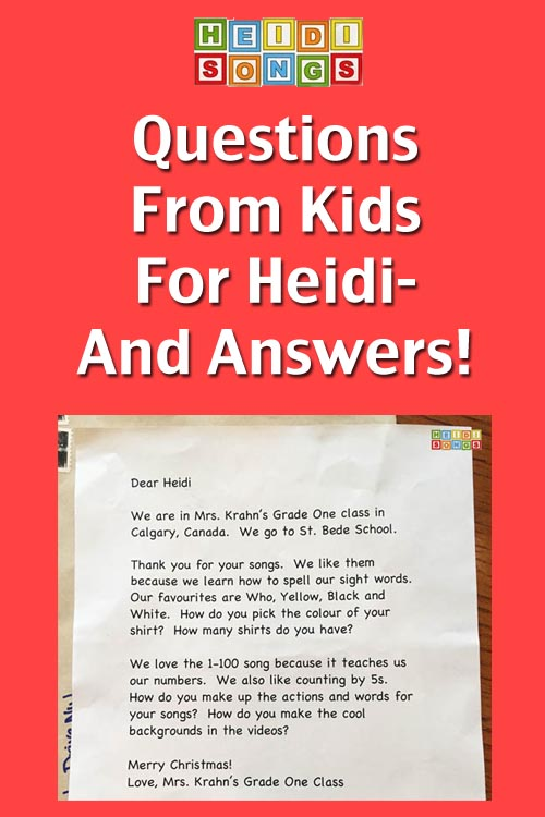 questions from kids for heidi and answers heidi songs